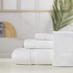 4 Piece Sovilla Deco Dobby Towel Set