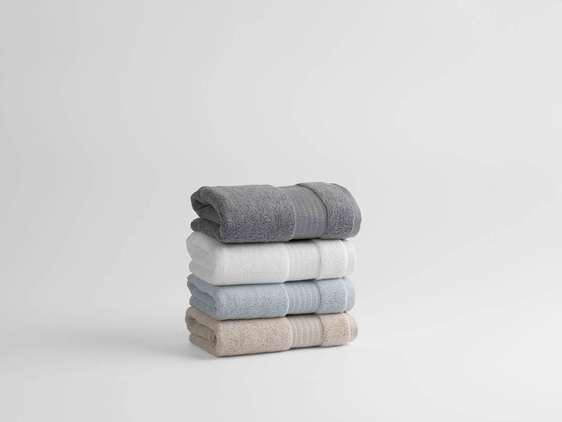 SW 100% Organic Cotton Turkish Dobby Design Hand Towels (Pair)