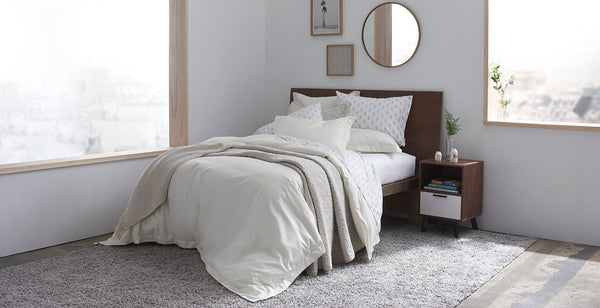 Pure Elegance 100% Supima Cotton, 500 Thread Count Sateen Solid Duvet Cover