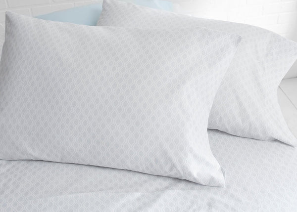Pure Elegance100% Supima Cotton, 400 Thread Count Percale Ogee Print Duvet Set