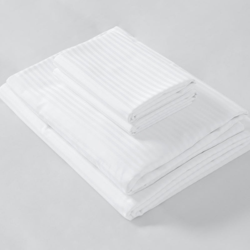 Hotel 300TC Satin Stripe Ni Nights Sheet Set
