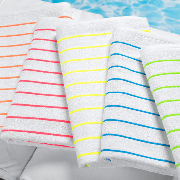 Hotel Splash Horizontal Stripe Pool Towel