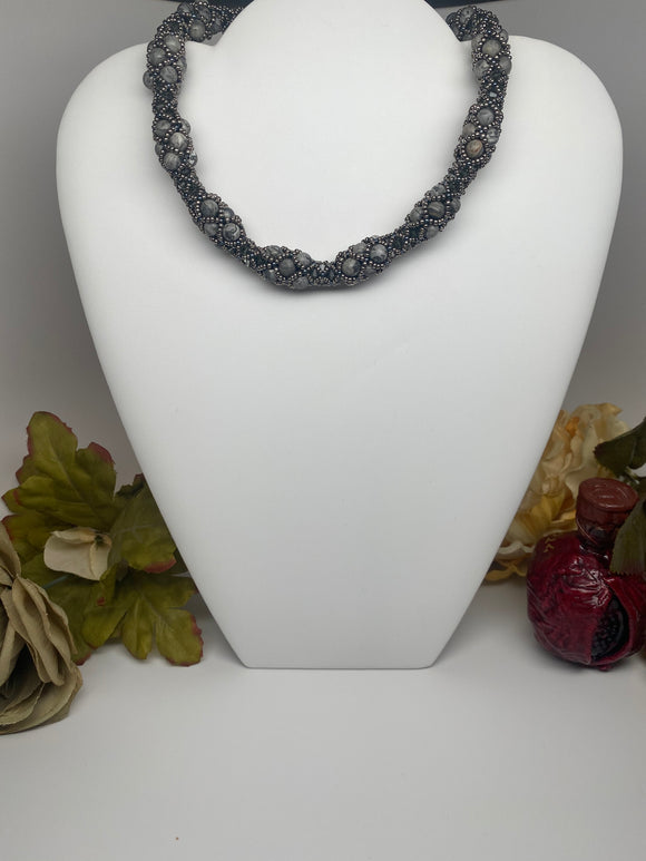 Swarovski Crystal and Natural Stone  Necklace