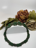 Hand Made Swarovski Crystal Dark Green Bracelet