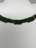 Hand Made  Swarovski Crystal Dark Green  Necklace  Swarovski Set
