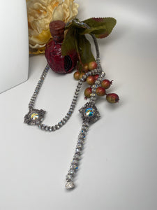 Hand Made Swarovski Crystal Necklace  Bracelet Set