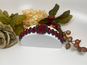 Hand Crafted Swarovski Crystal and Natural Stone Bracelet