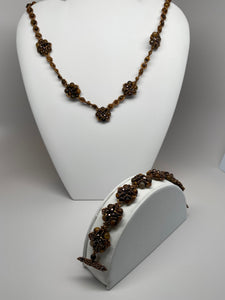 Hand Made Natural Tiger Eye Stone  Necklace
