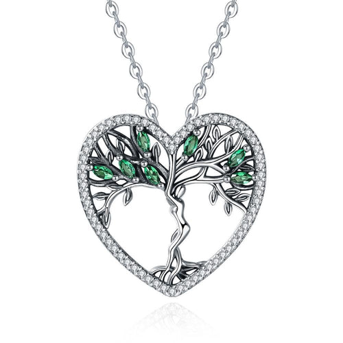 Green crystal goddess necklace - Jewels Lane Co.