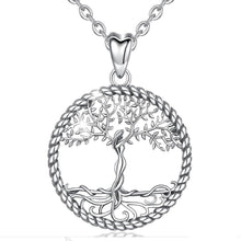 Load image into Gallery viewer, Silver goddess pendant necklace - Jewels Lane Co.
