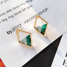 Load image into Gallery viewer, Triangle Stud Earrings - Jewels Lane Co.