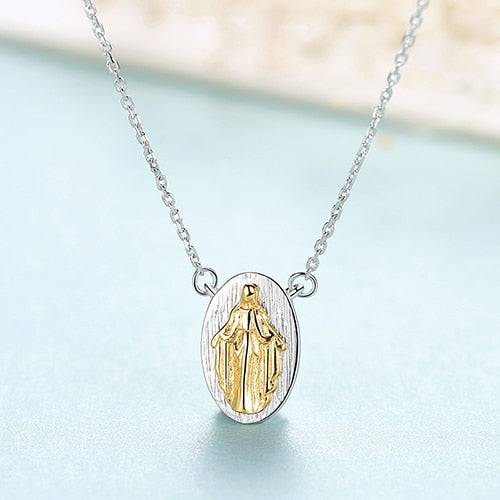 Virgin Mary Pendant Necklace - Jewels Lane Co.