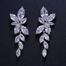 Load image into Gallery viewer, Crystal Flower Drop Earrings - Jewels Lane Co.