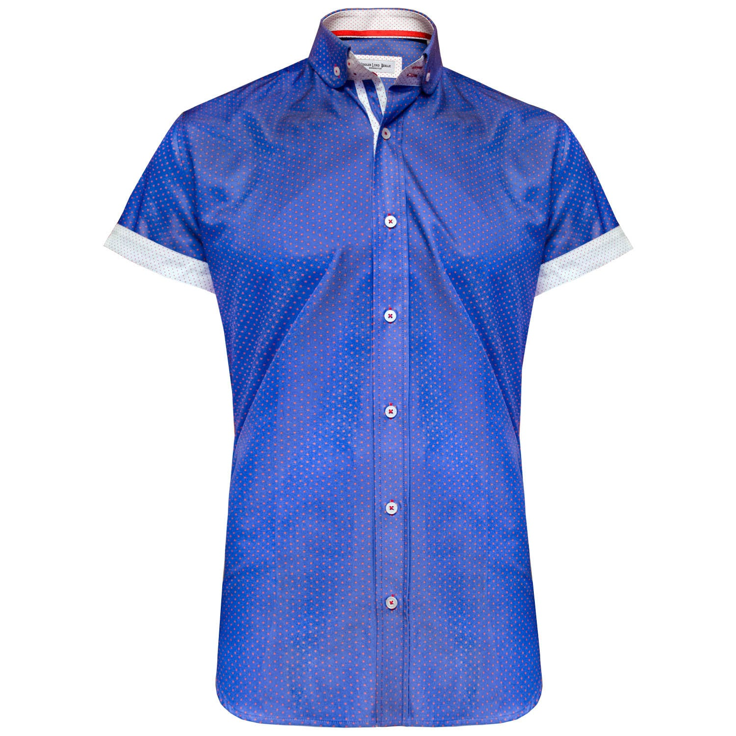 Calix blue short sleeved shirt Jiggler Lord berlue