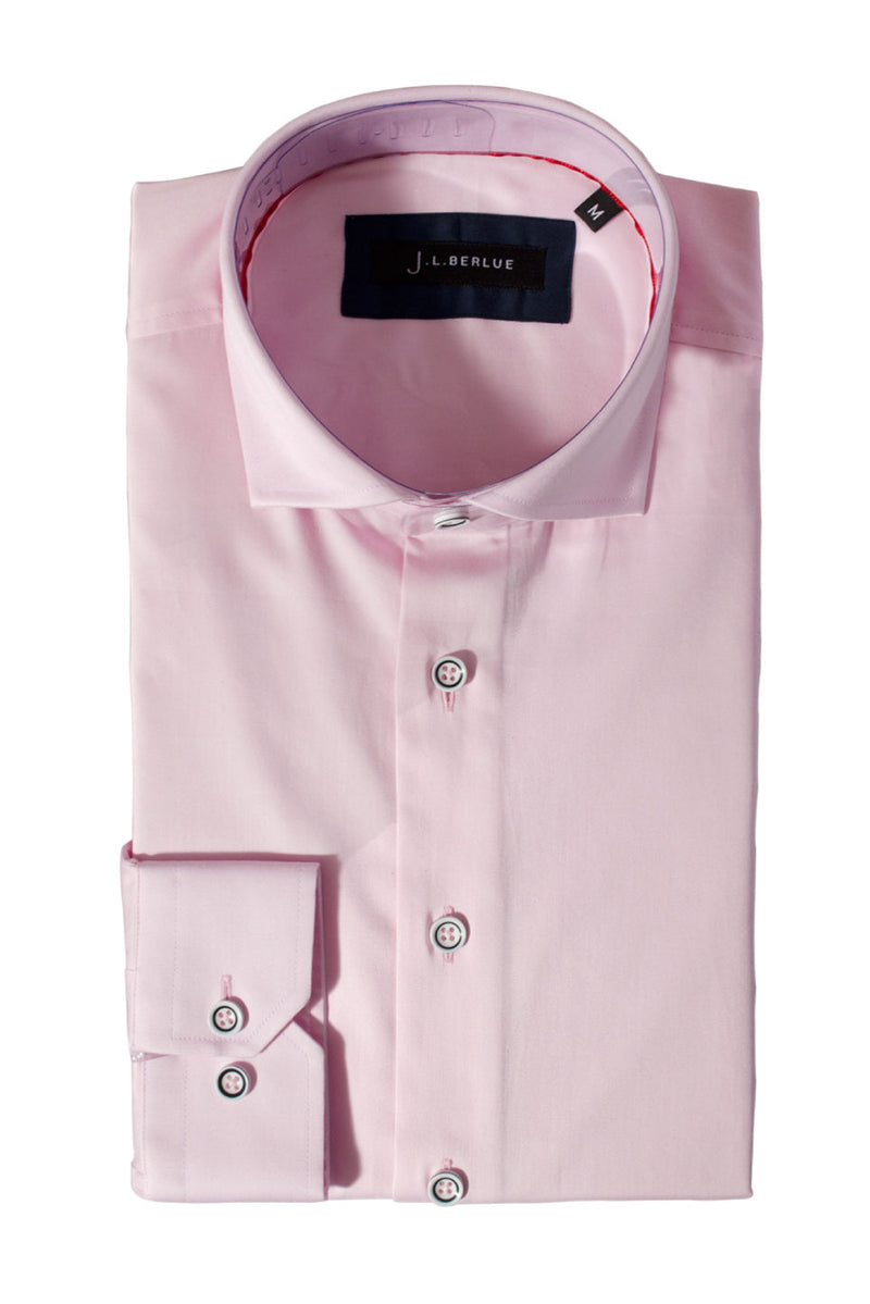 Premium Cotton Sateen Long Sleeve Shirt - CHESTER - Pink