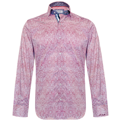 Coltran burgundy paisley long sleeved shirt Jiggler Lord berlue