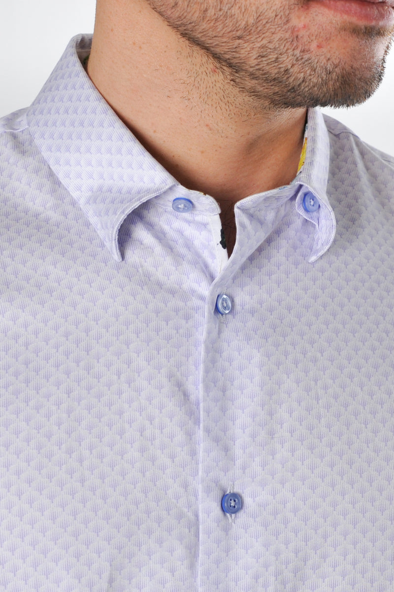 Premium Patterned Long Sleeve Shirt - CORELLA - Lilac