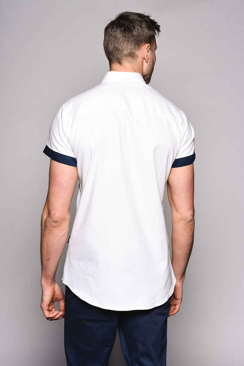 Premium Oxford Short Sleeve Shirt - DYER - White