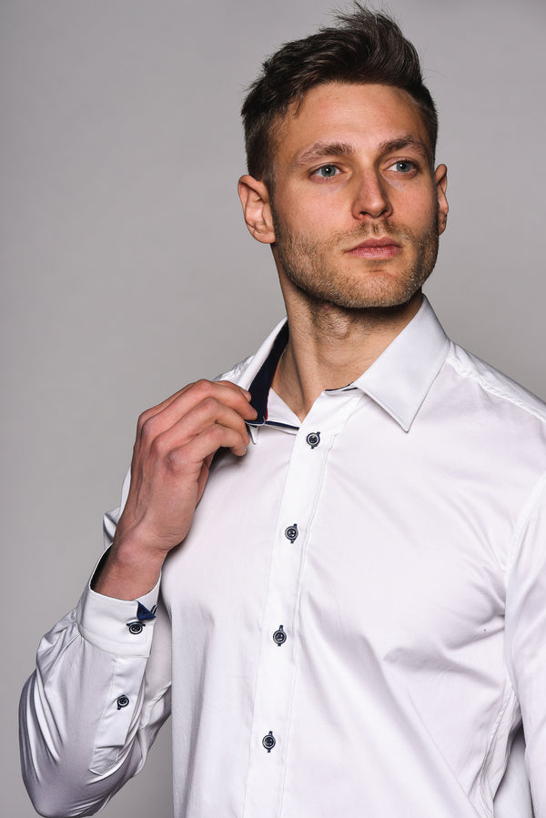 Premium Classic Long Sleeve Shirt – KANE - White