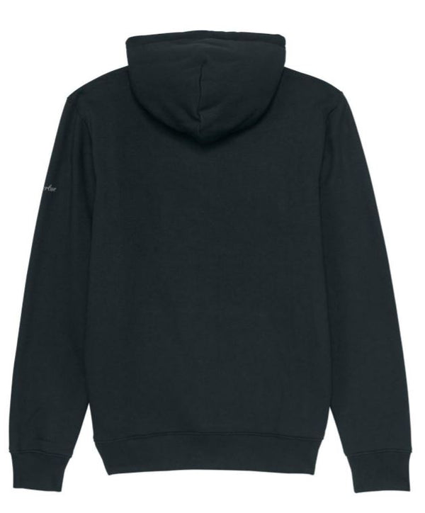 Premium Organic Cotton Hooded Sweatshirt - MILTON - Black