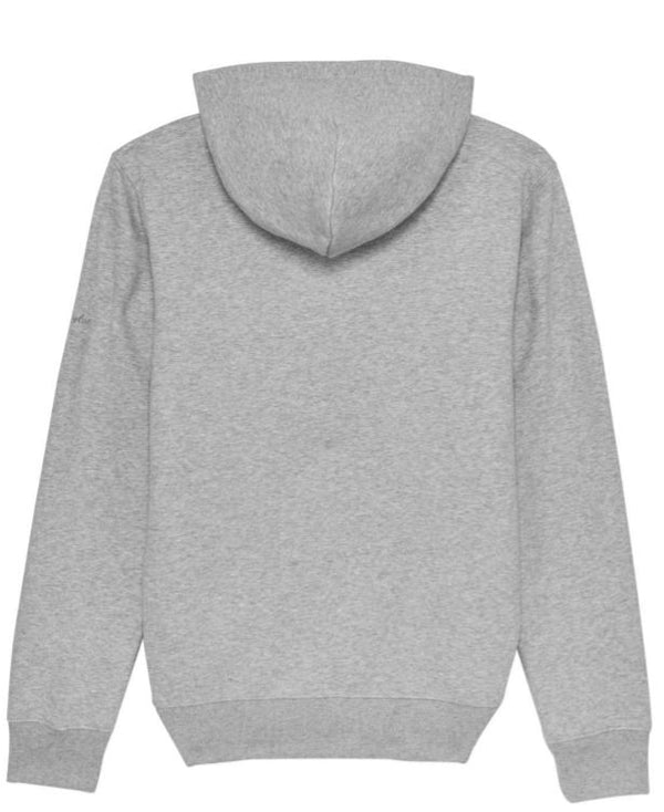 Premium Organic Cotton Hooded Sweatshirt - MILTON - Grey Marl