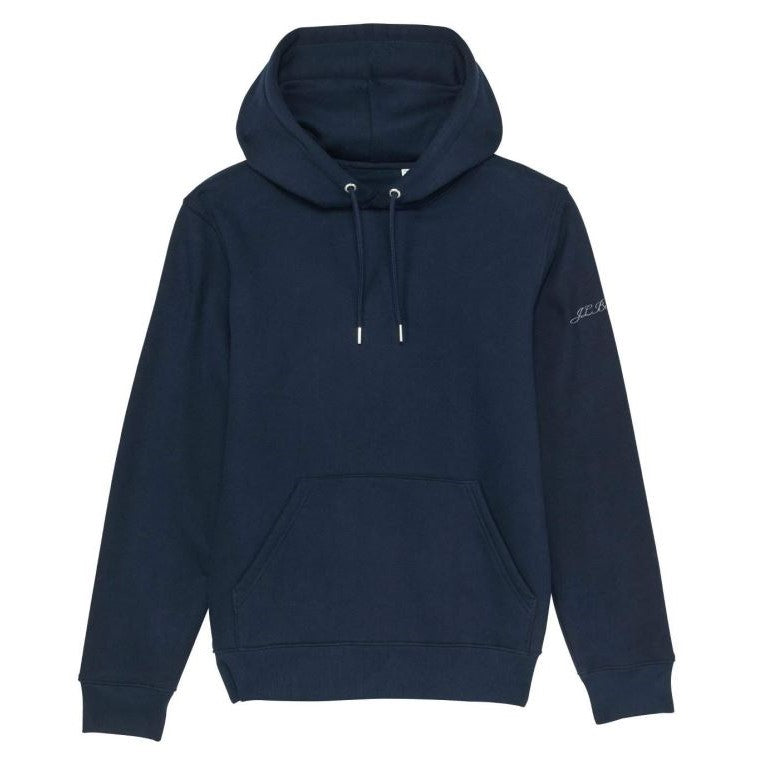 Premium Organic Cotton Hooded Sweatshirt - MILTON - Navy