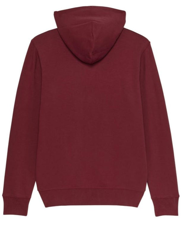 Premium Organic Cotton Zip through Hoodie - MOTTRAM - Burgundy