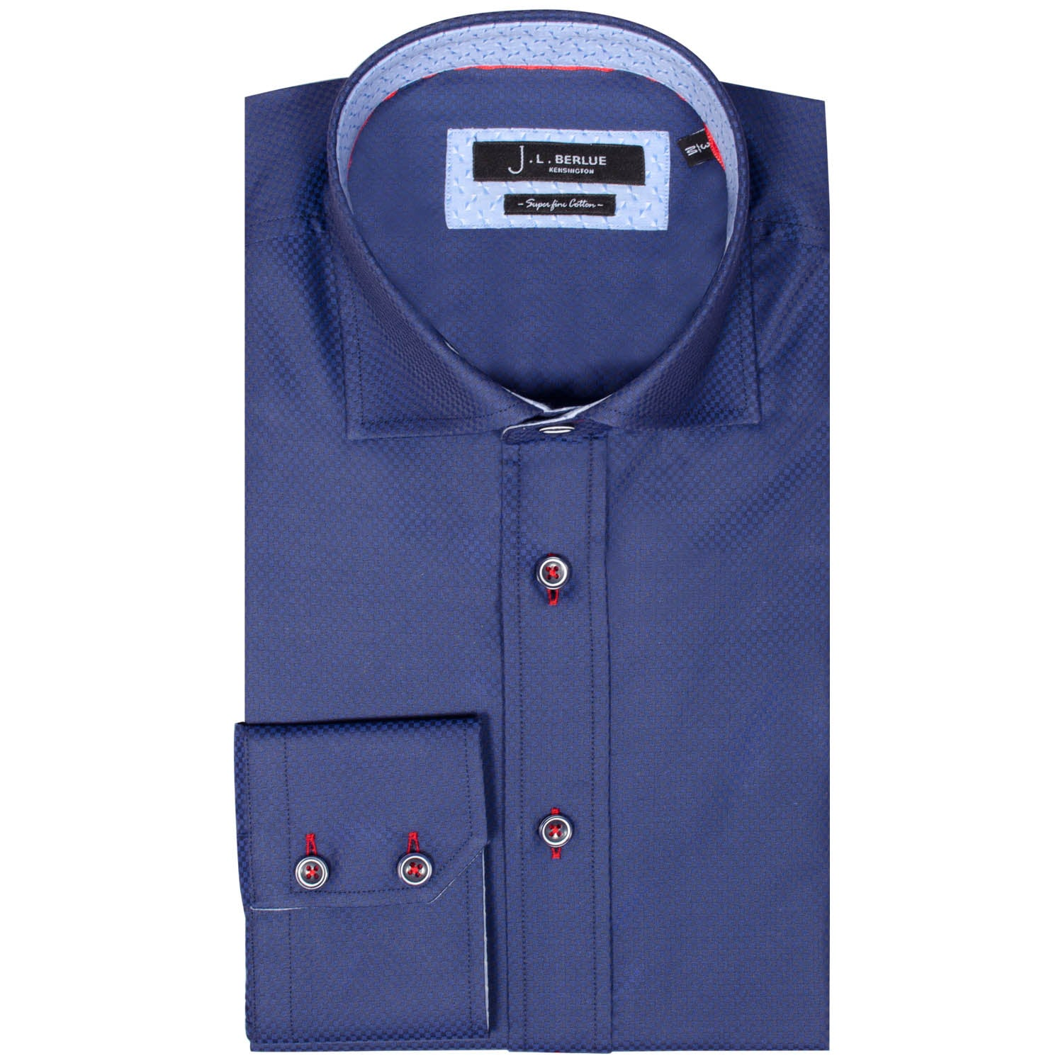 Premium Formal Long Sleeve Shirt – ODION - Navy