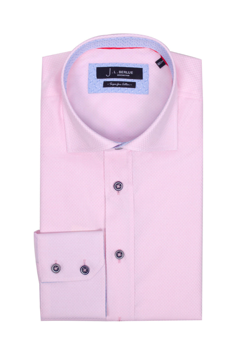 Premium Formal Long Sleeve Shirt - ODION - Pink