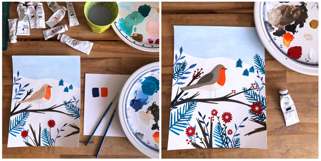 Sian Summerhayes Painting Process