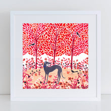 Load image into Gallery viewer, Autumn Greyhound Art Print