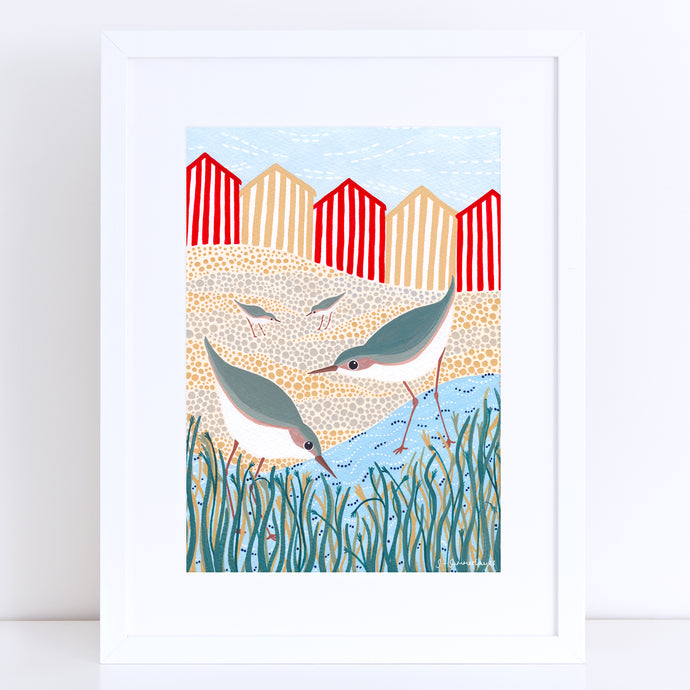 Beach Birds Art Print