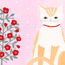 Load image into Gallery viewer, Cat With Pot Plant Art Print