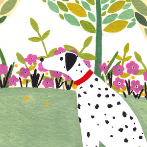 Dalmatian And Ball Art Print