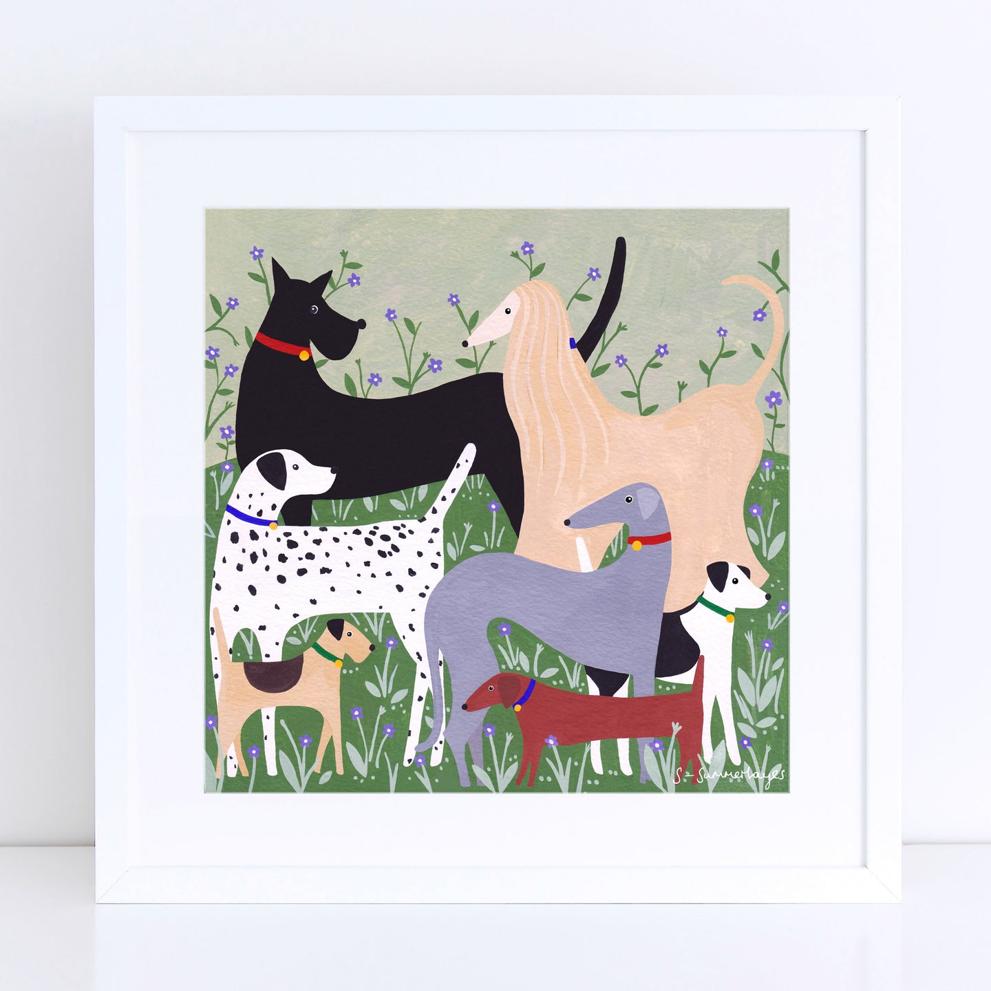Dog Meet Art Print