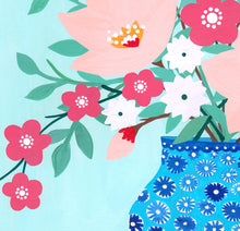 Load image into Gallery viewer, Floral On Mint Art Print