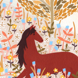 Horse Meadow Art Print