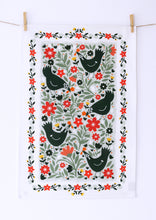 Load image into Gallery viewer, Folk Chickens Tea Towel