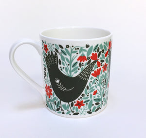 Chicken Among Foliage Mug