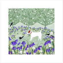 Load image into Gallery viewer, Jack Russell Among Bluebells Art Print