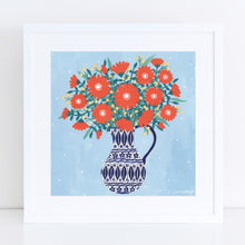 Load image into Gallery viewer, Jug of Orange Flowers Art Print