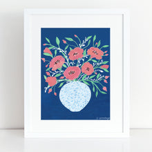 Load image into Gallery viewer, Midnight Flowers Art Print