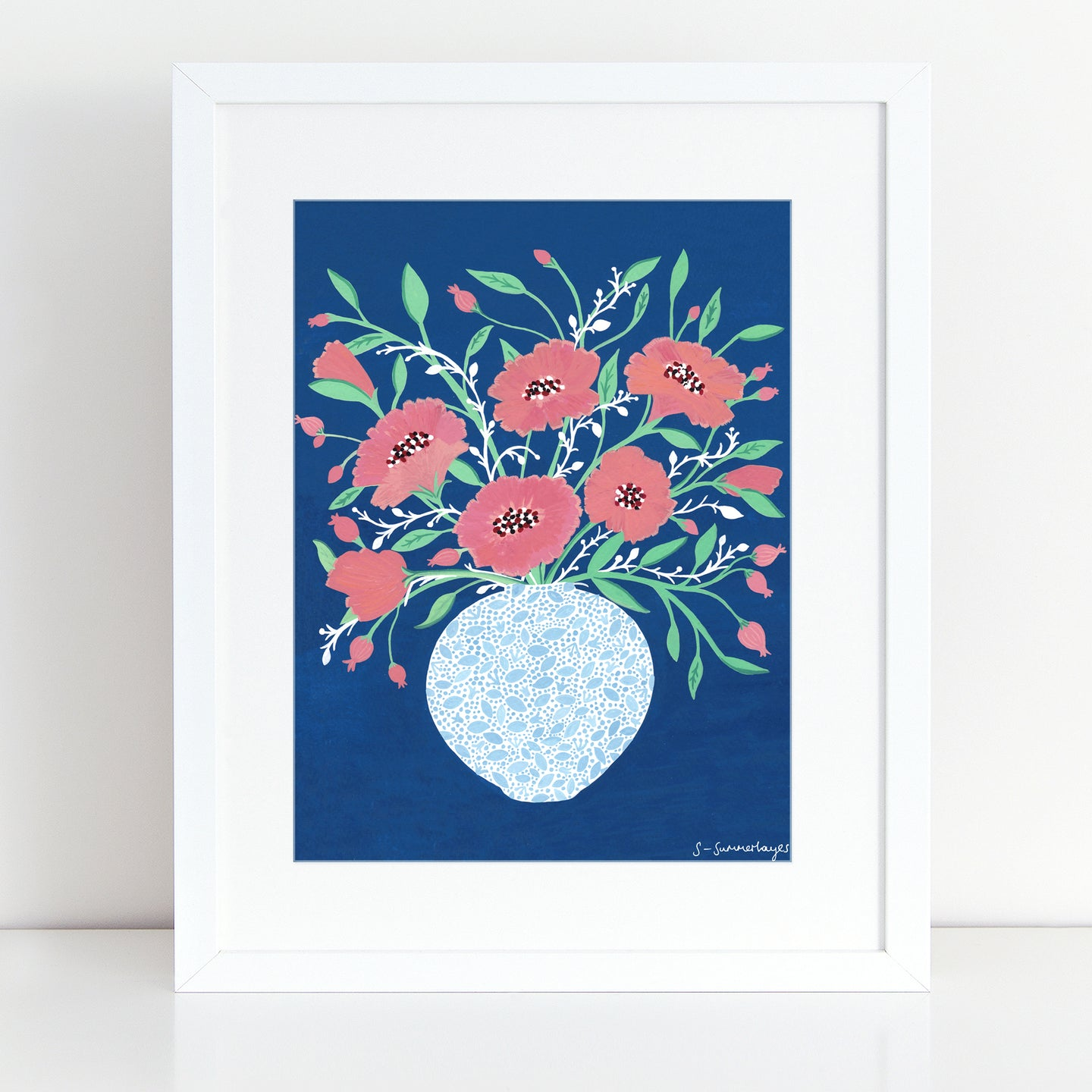 Midnight Flowers Art Print