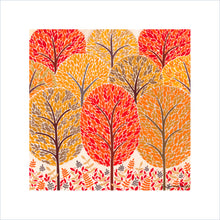 Load image into Gallery viewer, Autumn Trees Art Print