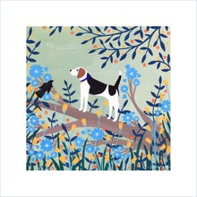 Load image into Gallery viewer, Beagle on Branch Art Print