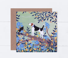 Load image into Gallery viewer, Beagle on Branch Greeting Card