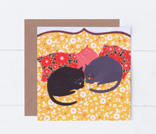 Load image into Gallery viewer, Cats Sleeping Greeting Card