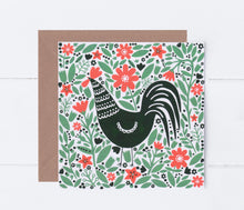 Load image into Gallery viewer, Cockerel In A Field Greeting Card