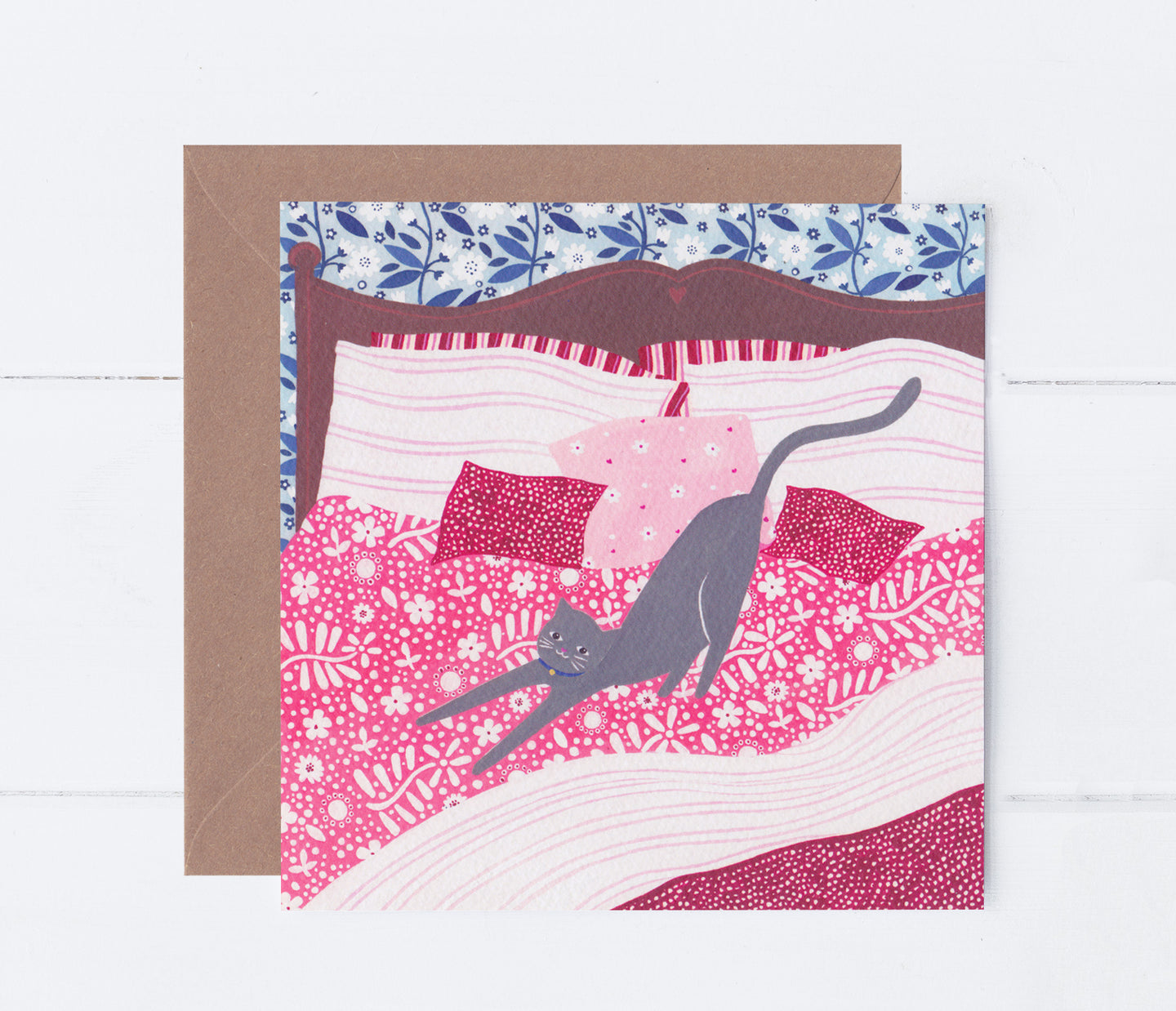 Cosy Cat Greeting Card