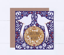 Load image into Gallery viewer, Doves On A Bauble Greeting Card
